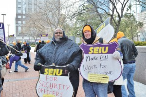 (l-r) Harrison Bullard and coworker Photo courtesy  of SEIU Local 26