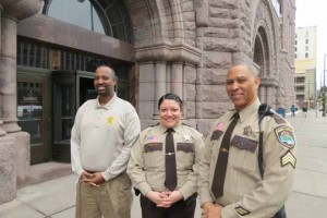 (l-r) Abdi Mohamed, Deputy Betsy Aune,  Sergeant Derwin Ellis  Photo courtesy of Hennepin County