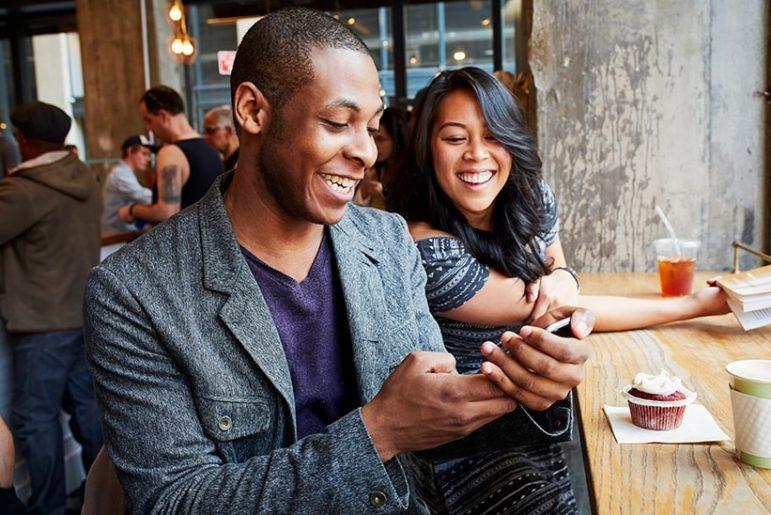 Black friends at café