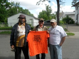 "(l-r) Michael Chaney of Project Sweetie Pie, John Vig, Sr.,  and Wallace ""Jack"" Jackman.  Photo courtesy of SMSC"