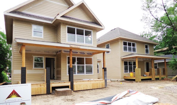 One of three South Minneapolis Ice Cold Construction home-building projects                     Photo by Charles Hallman