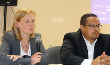 (l-r) April Todd-Malmlov and Congressman Keith Ellison Photos by Charles Hallman