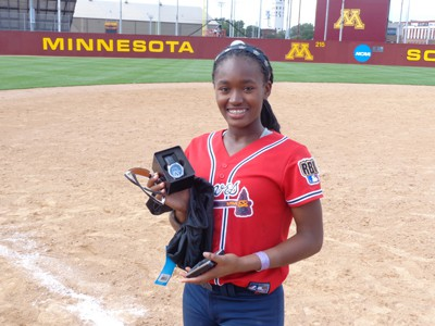 Chelsea Hall with her championship watch Photo by Charles Hallman