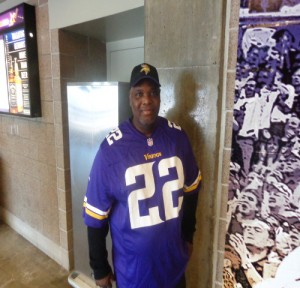 Sylvester Blue, a Vikings fan from Dallas