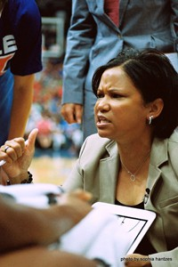 Chicago Sky Head Coach Pokey Chatman Photo by Sophia Hantzes