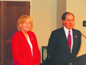 Met Council Chair Sue Haigh (l) and MnDOT Commissioner Charlie Zelle Photo by Charles Hallman