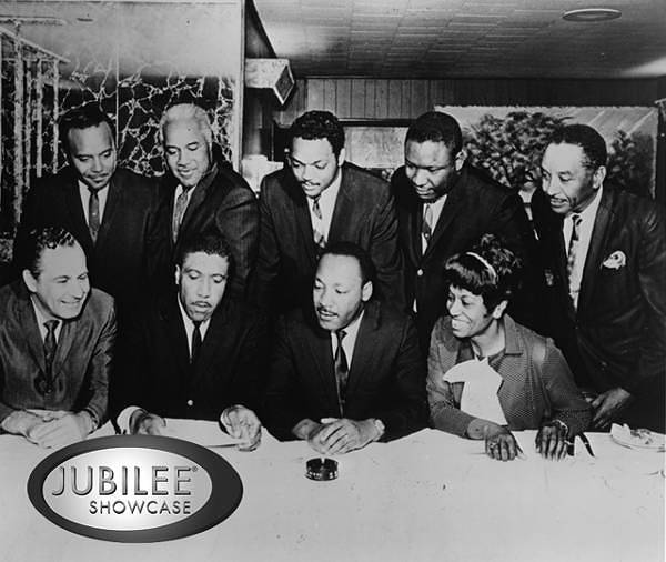 Sid Ordower (lower left) with Rev. Dr. Martin Luther King, Jr., Jesse Jackson, and other prominent civil rights leaders