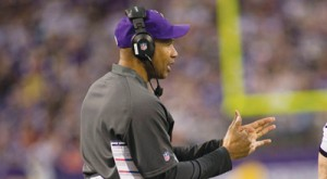 Now-former Vikings head coach Leslie Frazier Photo by Steve Floyd