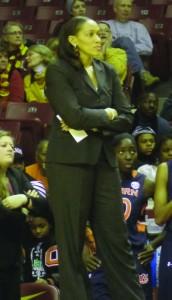 Auburn Head Coach Terri Williams-Flournoy Photo by Charles Hallman