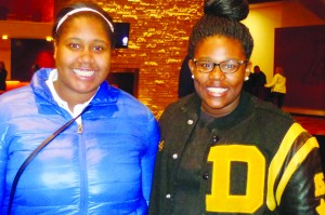 Tori Smith and Jonalyn Fair are DeLaSalle High School juniors who attended the U-M's Tucker Center Film Festival and saw documentaries about Rutgers Coach C. Vivian Stringer (inset) and former Tennessee coach Pat Summitt.