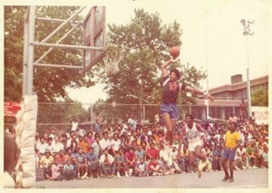 "Julius ""Dr. J"" Erving at Rucker Park"