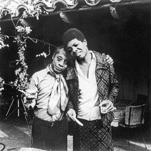 James Baldwin (l) with Maya Angelou