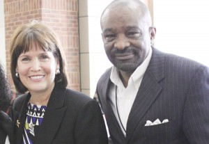 Congresswoman Betty McCollum and Clarence Hightower Photo by Sarah Elbing