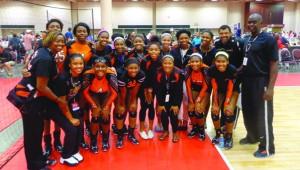 Atlanta Boom team members  (Arleen Hughes far left and  Del Hughes far right in back row)