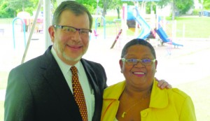 (l-r) Eric Kaler and Bernadeia Johnson