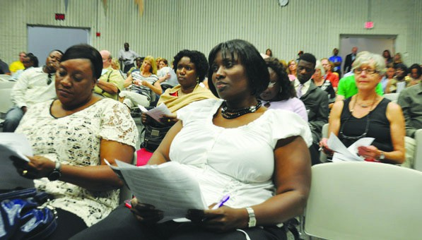 Residents of Brooklyn Center and Brooklyn Park  gathered to hear health officials discuss the  Ebola outbreak.