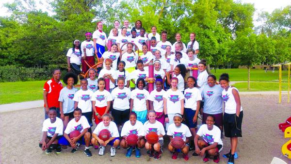 Triple Threatt Basketball Clinic participants