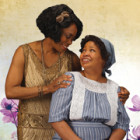 (l-r) Regina Marie Williams and Aimee K. Bryant as Shug and Celie in Park Square Theatre's staging of The Color Purple