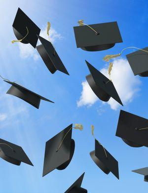 Graduates+graduation+cap+gown