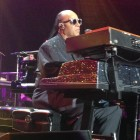 Stevie Wonder on keyboard at the Songs in the  Key of Life, March 29.