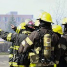 Three-alarm fire on the 900 block of West Broadway in North Minneapolis, April 15. Photos by Chris Juhn