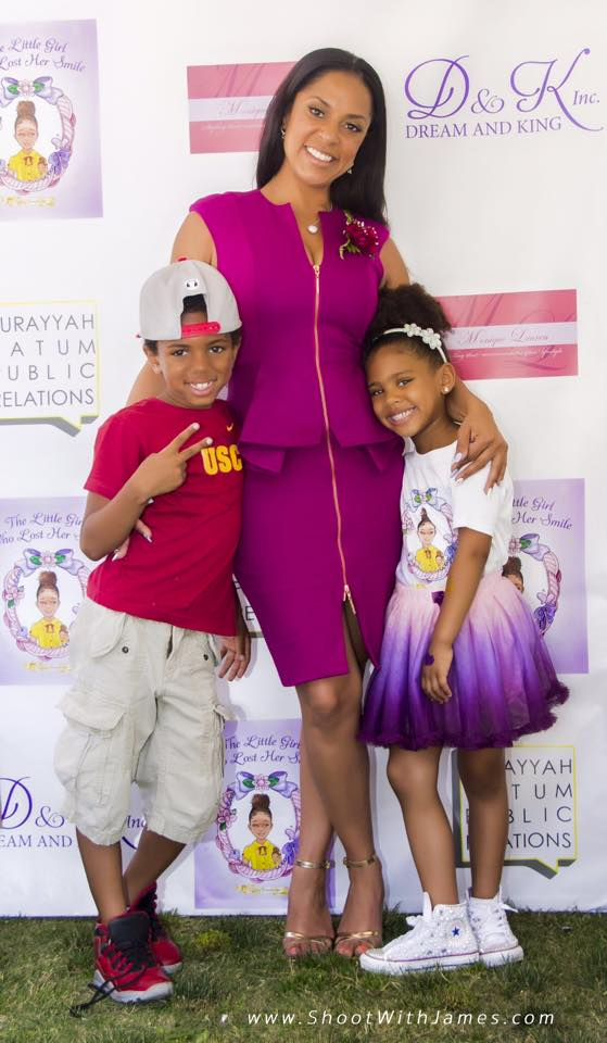 Tiffney Cambridge with son and daughter