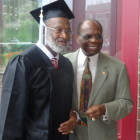 Bobby Bell (l) with Judge Dickson