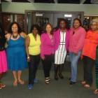 Caption: New Minneapolis NAACP officials (l-r) Ashley Oliver, Kerry Jo Felder, Helen Bassett, Cathy Jones, Nekima Levy Pounds, Natonia Johnson, Shirlynn LaChappelle and Wintana Melekin