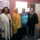 (l-r): Judge LaJune Lange, Sophia Abdi Noor, Tracey Williams-Dillard,