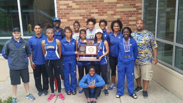 Minneapolis Edison's girls' track team