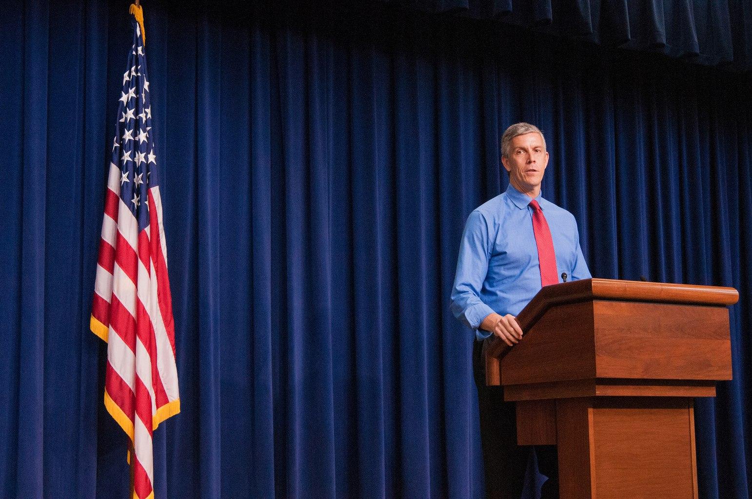 Secretary of Education. Arne Duncan
