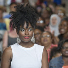 "Models displayed the creativity and flair of local hair stylists at the Sister Spokesman: ""Loving Your Hair"" at the Minnesota History Center, July 11."
