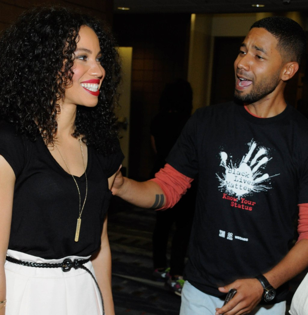Jussie Smolett with his actress sister, Jurnee