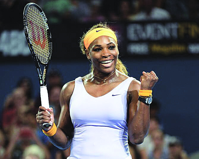 The victorious Serena Williams