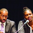 (l-r) Eric Mahmoud and Michelle Walker