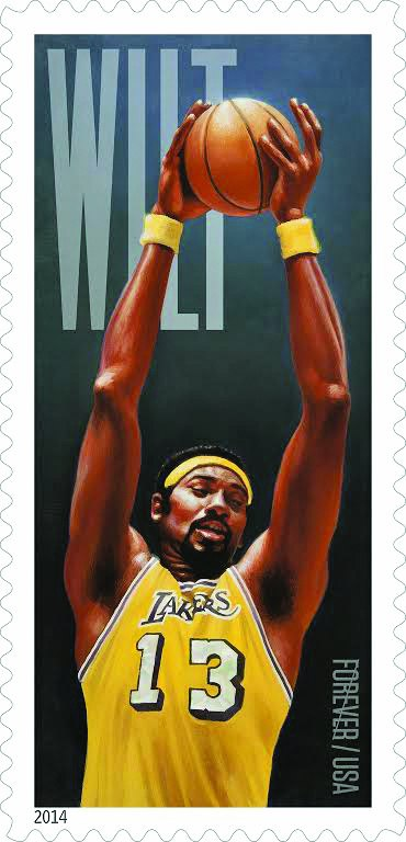 The Wilt Chamberlain stamp
