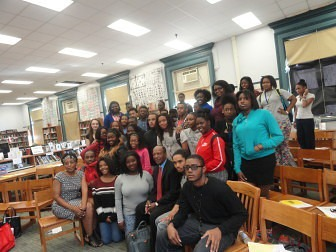 HistoryMaker Jesse White visits Lincoln Park High School in Chicago as part of the 2014 Back to School Day.