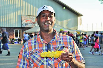 Corn Festival fan Andre Nelson