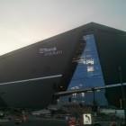 (New Vikings stadium under construction)