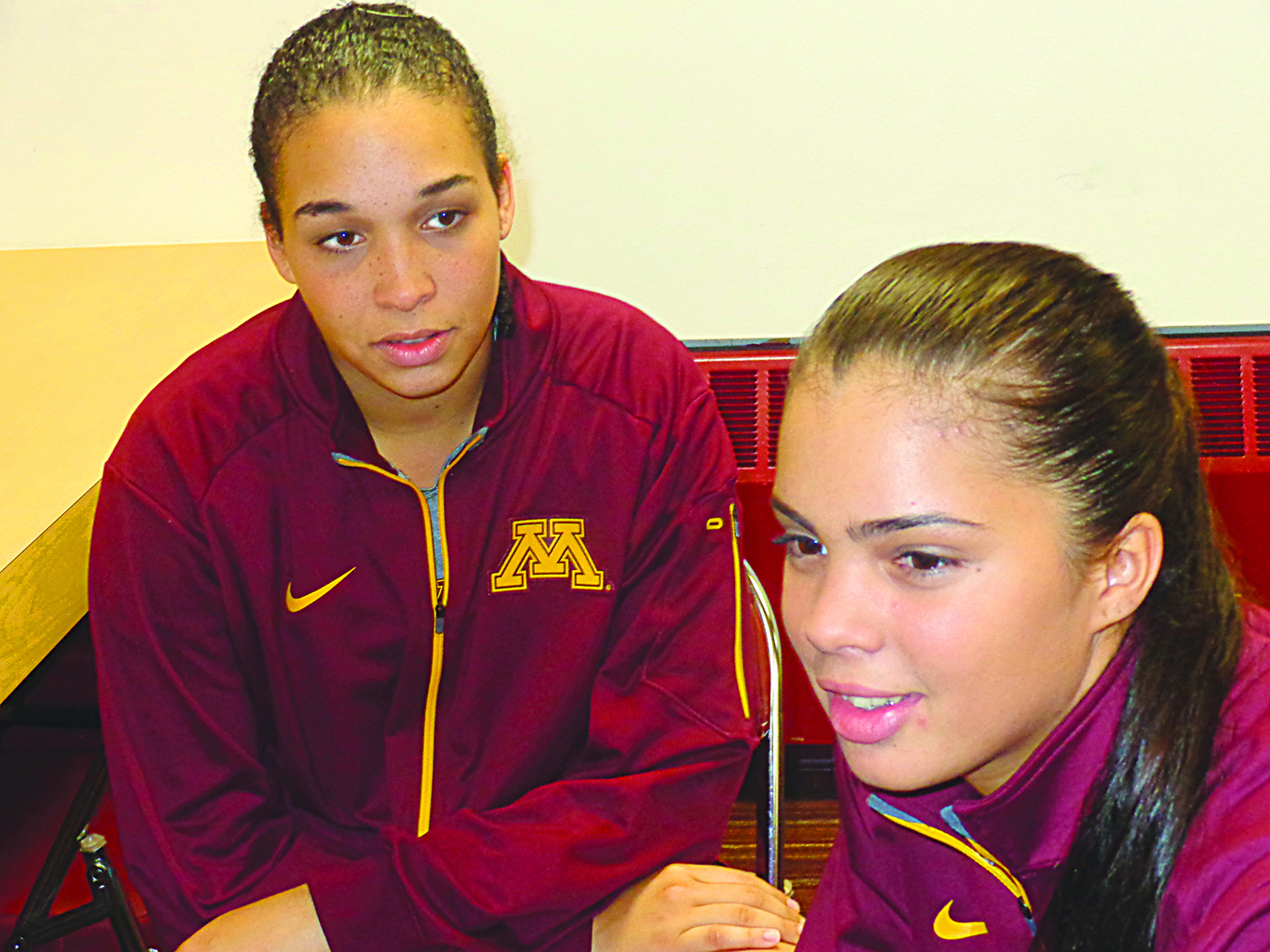 Daly Santana, left, and Dalianliz Rosado