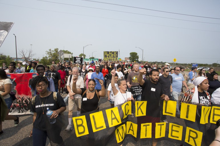 Black Lives Matter protest at the MN State Fair, August 29
