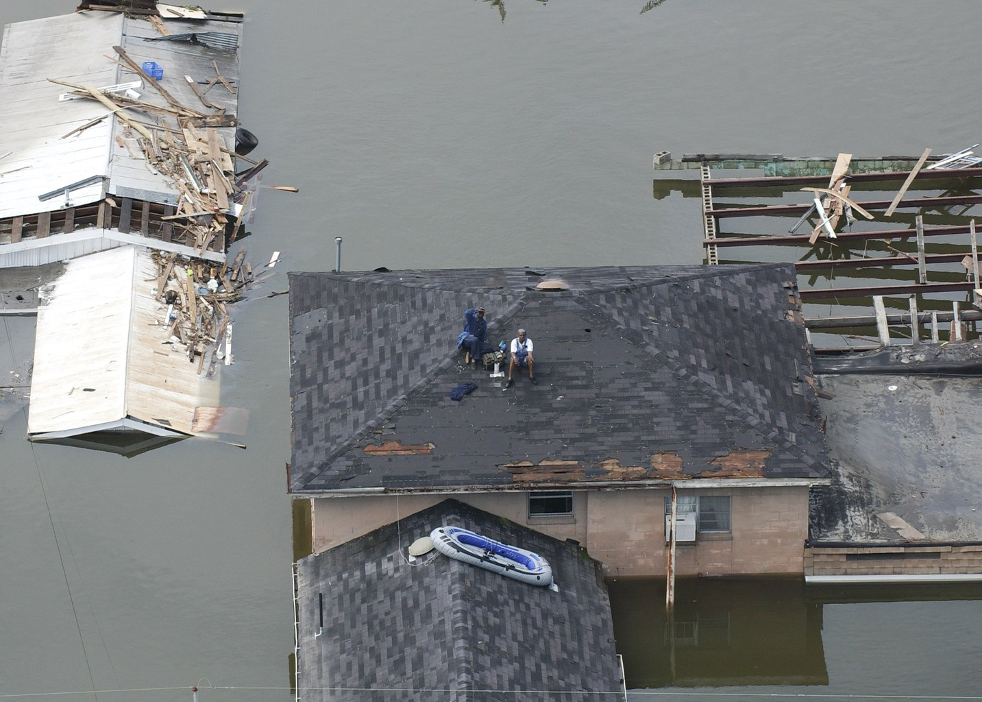 New Orleans, LA--Aerial views of damage caused from Hurricane Katrina the day after the  hurricane hit August 30, 2005.