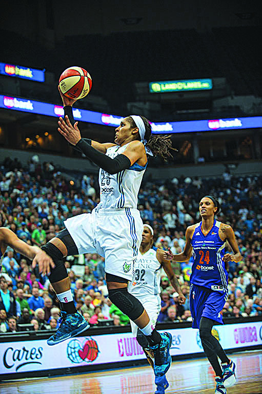 Maya Moore in flight