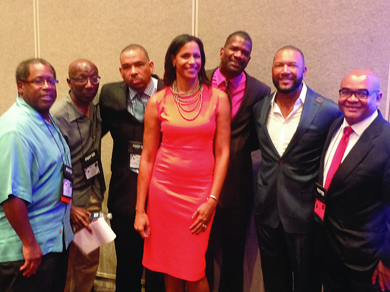 Baseball panel members (l-r) LaVelle Neal III, Justice Hill, Gary Washburn, Lea B. Olsen, Rob Parker, Gary Sheffield, Thomas Harding