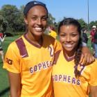 Simone Kolander (l) and Rashida Beal