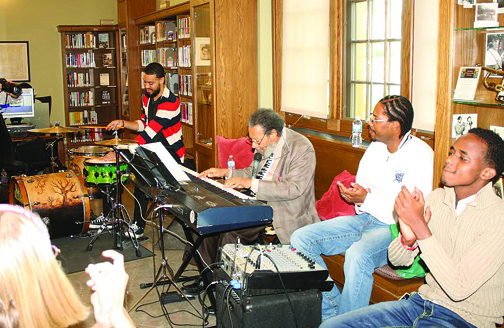 "Attendees enjoyed music from James ""Cornbread"" Harris"