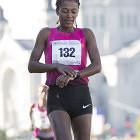Abraha Serkelam Bise of Ethiopia won the women's race