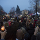 The candlelight vigil capped off an emotional week