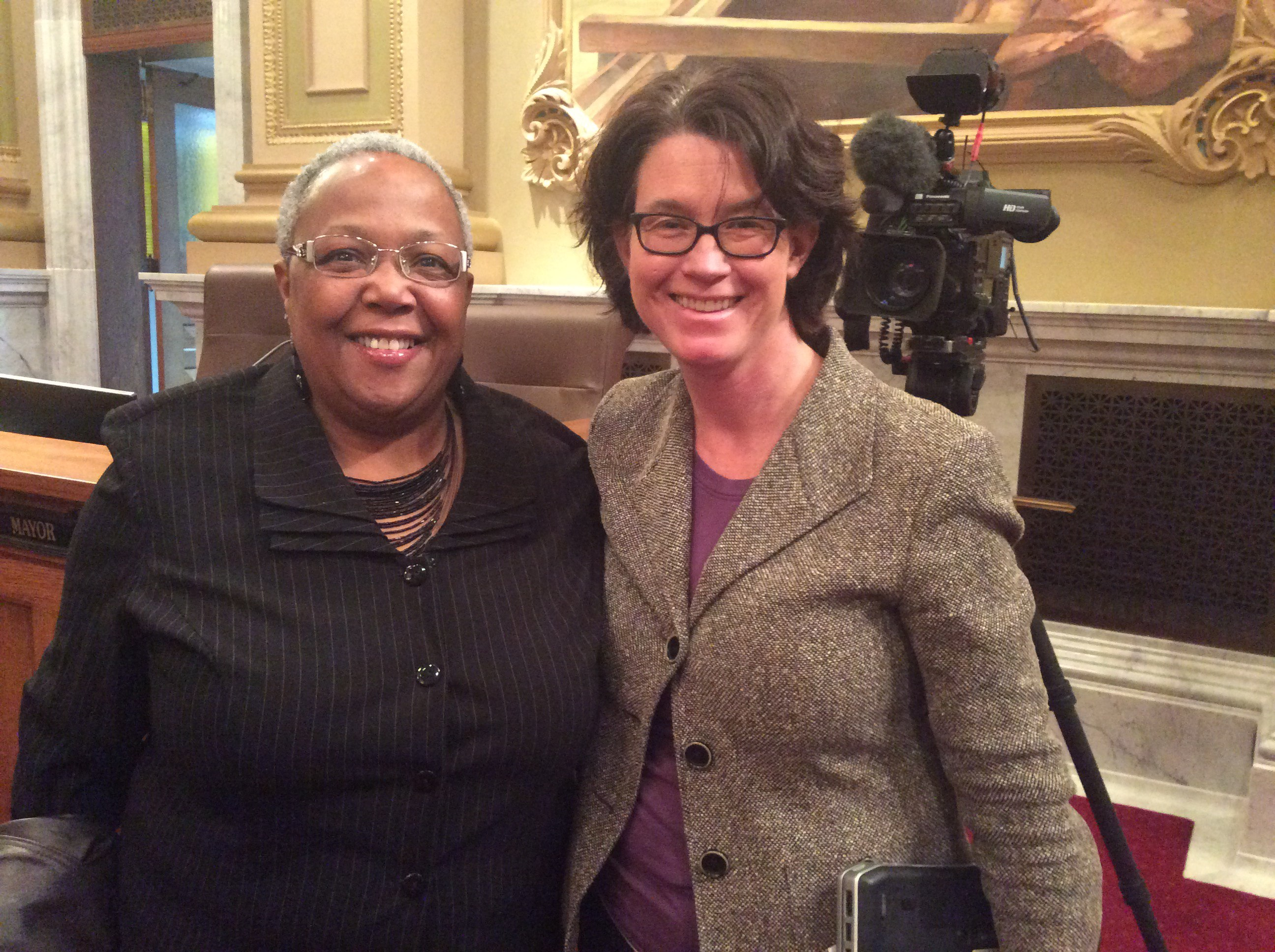 MSR Publisher and CEO Tracey Williams-Dillard (l) and Council Member Elizabeth Glidden