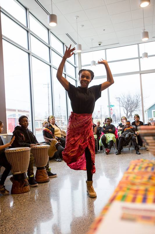Kwanzaa celebrated at the Seward Friendship Store, Dec 12.